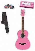 Daisy Rock - Junior Miss Acoustic Guitar Pack in Bubble Gum Pink