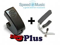 Ebow Plus Hand Held Sustainer: bundled with Lever Guitar Capo