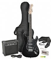 Chord CAL63PK Electric Guitar + Amp Pack (Black finish)