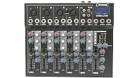 Citronic CM6-LIVE Compact 6 Channel Mixer with Delay, USB/SD Player