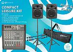 QTX Sound Compact Leisue Kit: Complete PA System 160w