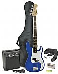 Chord CAB41PK Electric Bass Guitar + Amp Pack (Blue finish)