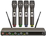 Chord NU4 Quad UHF Wireless handheld Microphone System