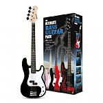 Rockburn PB Style Bass Guitar Package - Black