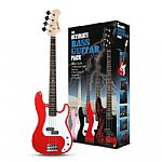 Rockburn PB Style Bass Guitar Package - Red